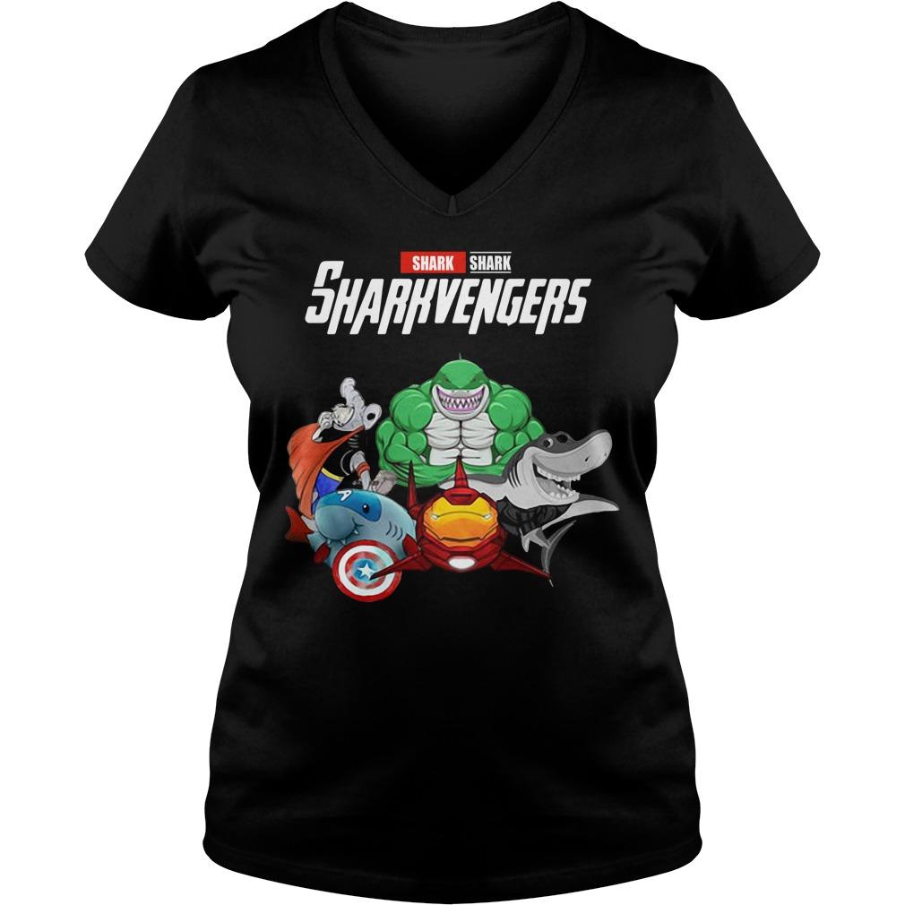 Marvel Avengers Shark Sharkvengers V-neck T-shirt