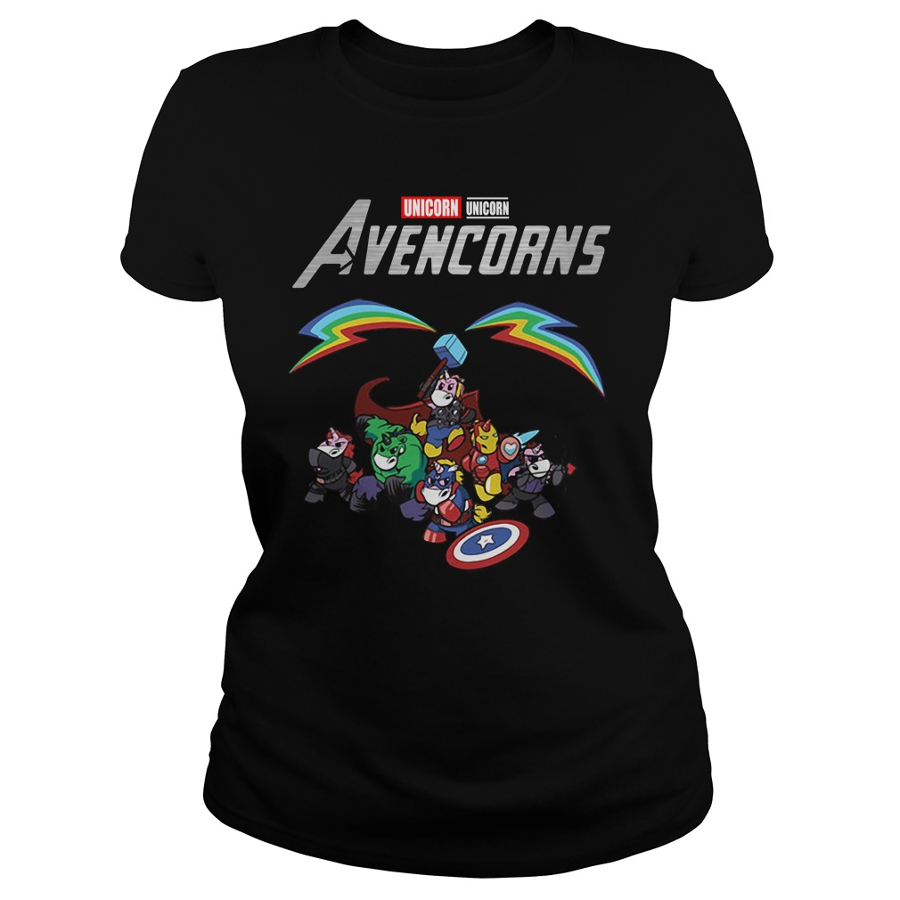 Marvel Avengers Unicorn Avencorns Ladies Tee