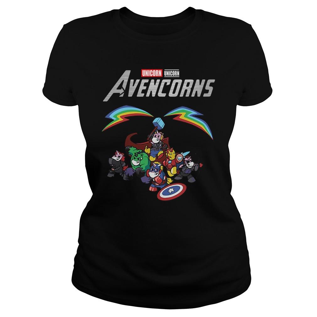 Marvel Avengers Unicorn Avencorns Ladies Tee