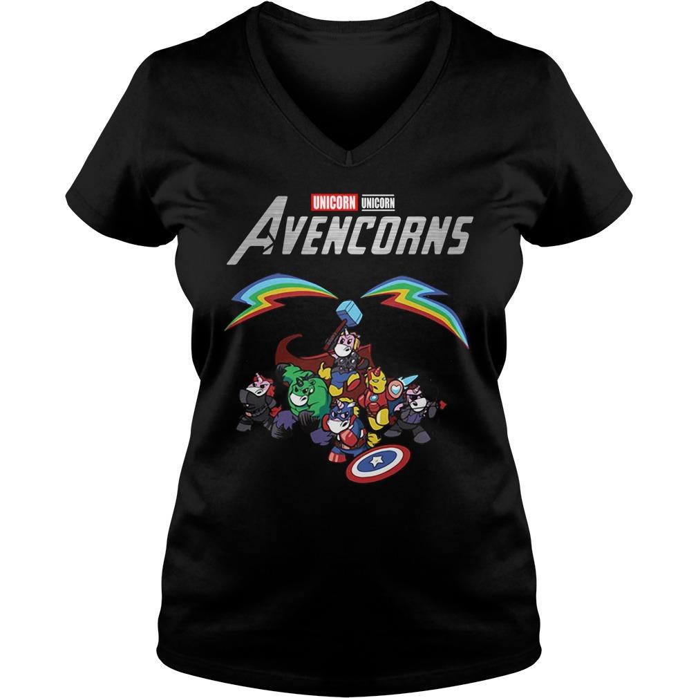Marvel Avengers Unicorn Avencorns V-neck T-shirt