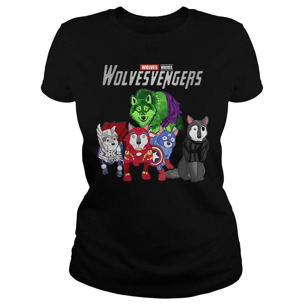 Marvel Avengers Wolves Wolvesvengers Ladies Tee