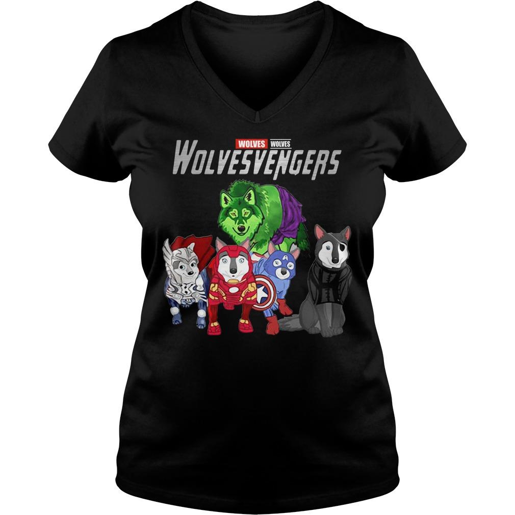 Marvel Avengers Wolves Wolvesvengers V-neck T-shirt