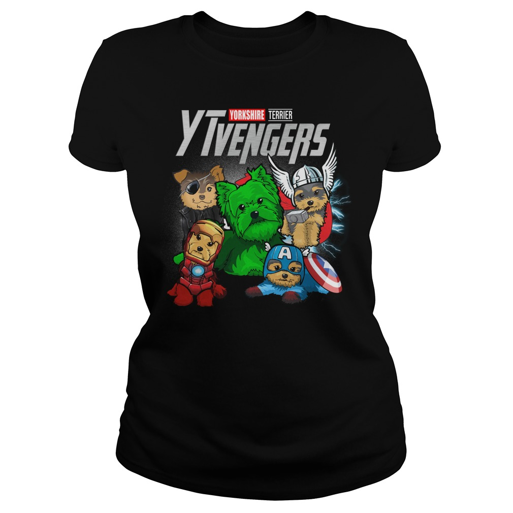 Marvel Avengers Yorkshire Terrier Ytvengers Ladies Tee