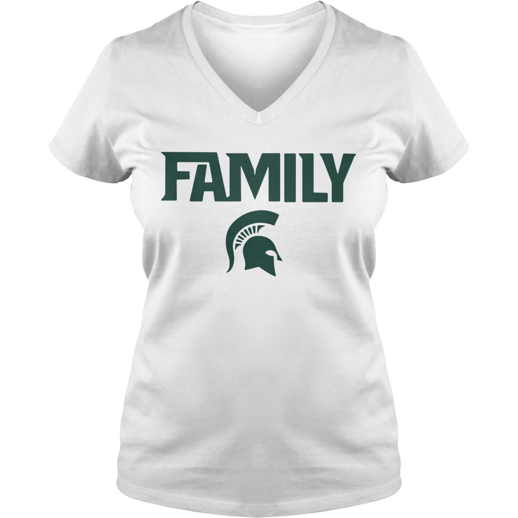 Michigan State Msu Family V-neck T-shirt