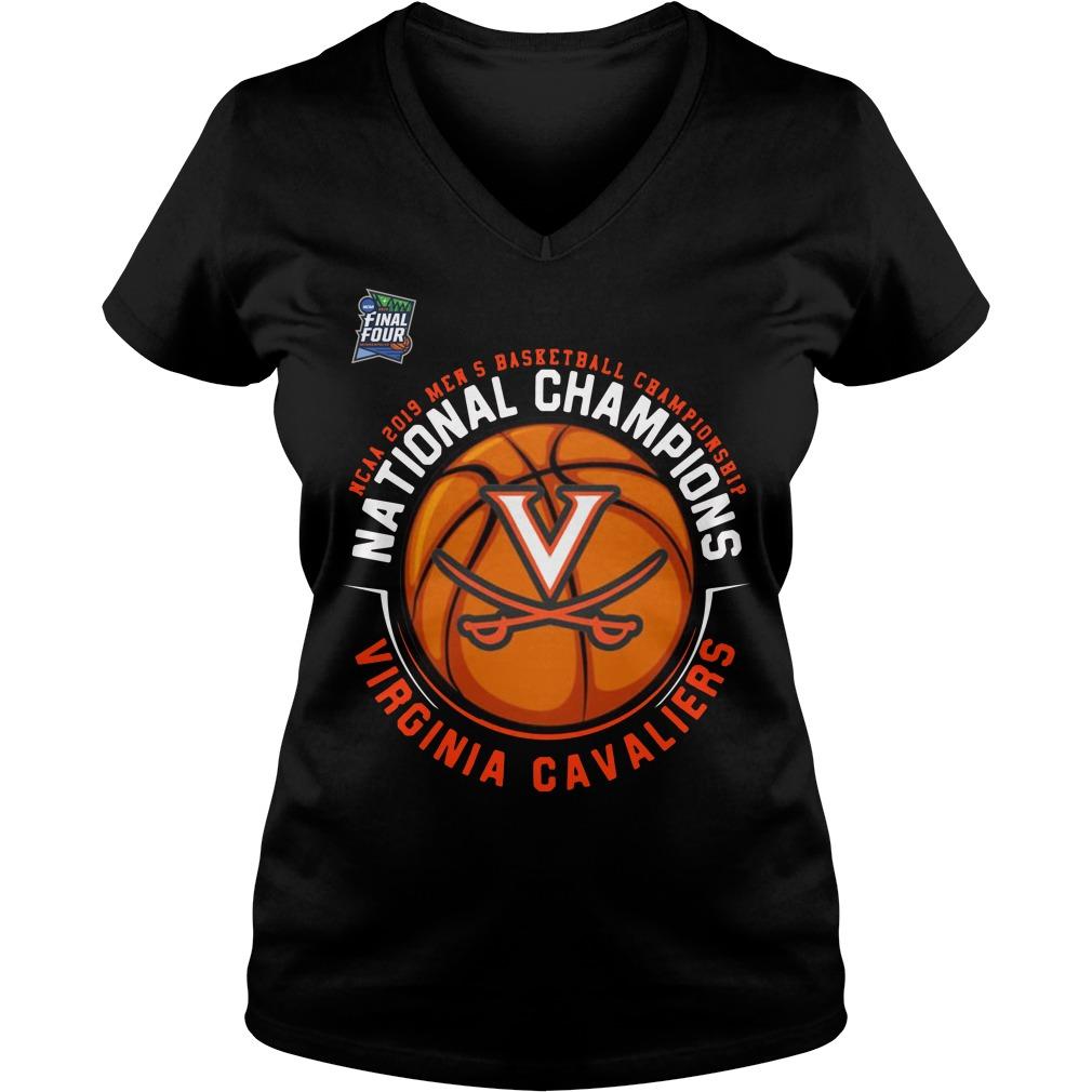 Ncaa 2019 Mens Basketball Championship National Champions Virginia Cavaliers V Neck T Shirt