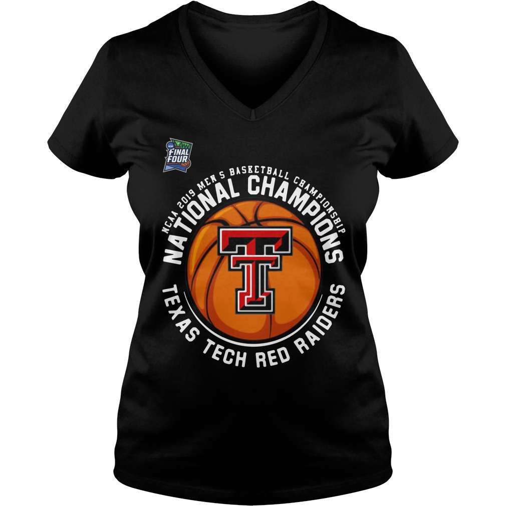 Ncaa 2019 Men's National Champions Texas Tech Red Raiders V-neck T-shirt