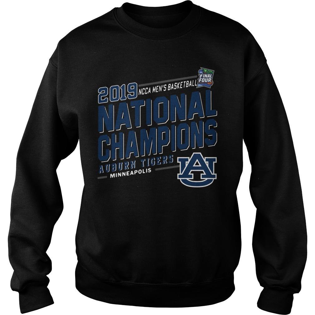 Ncaa Men's Basketball National Champions Auburn Tigers 2019 Minneapolis Sweater