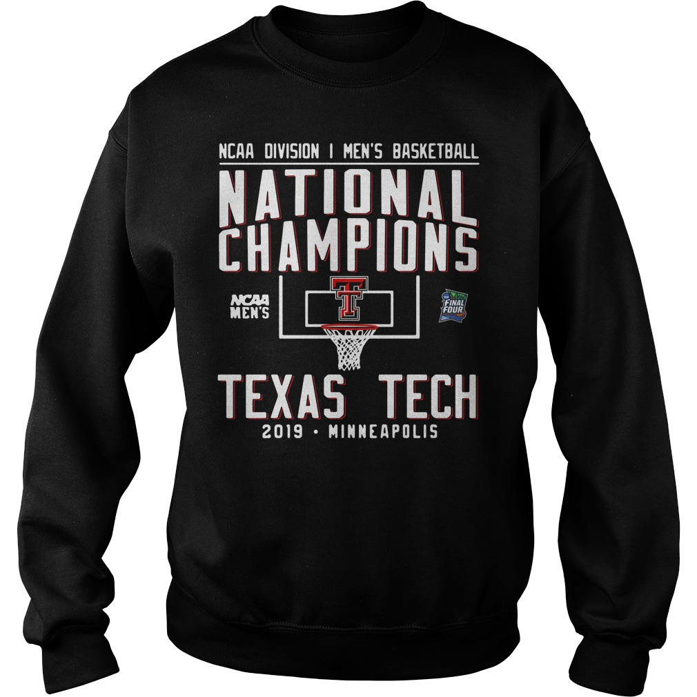 Ncaa Men's Basketball National Champions Texas Tech 2019 Minneapolis Sweater