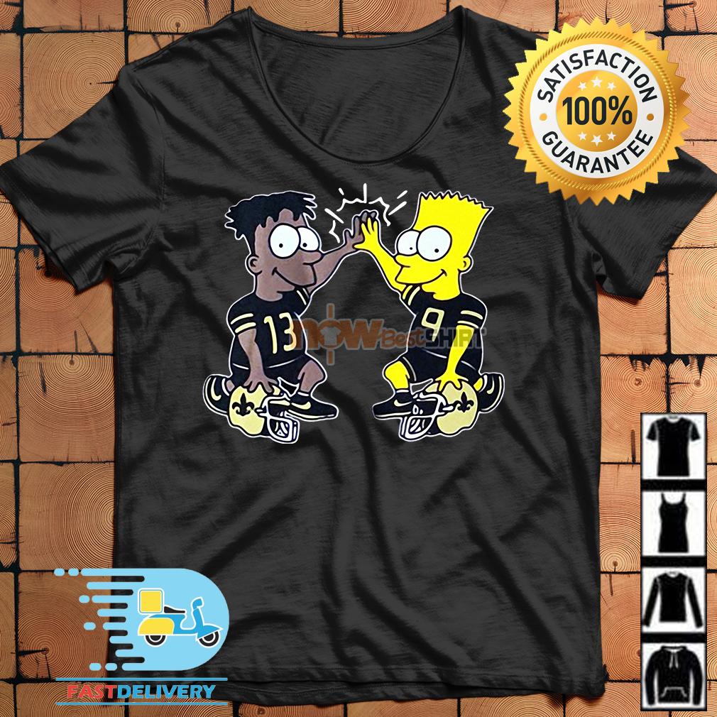 8d916bb9 New Orleans Saints Michael Thomas Simpsons Dynamic Duo Shirt