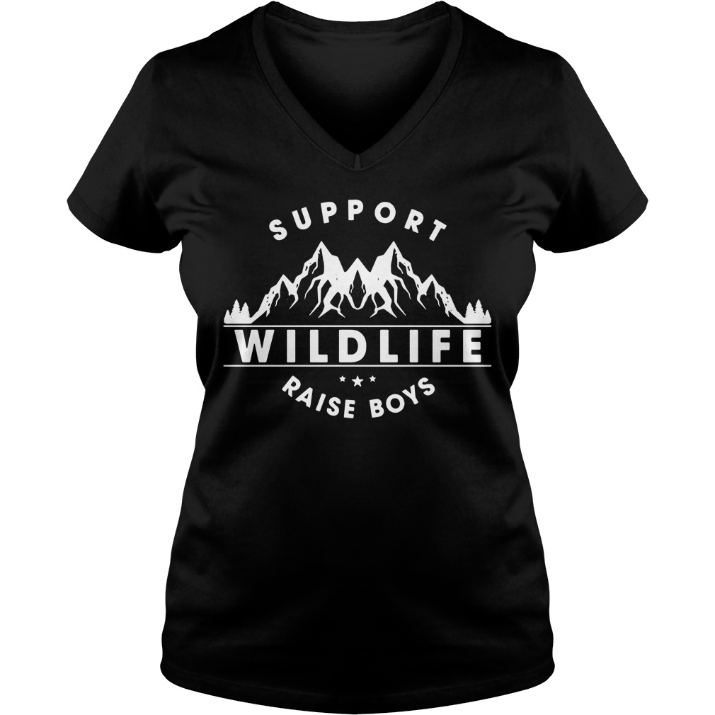 Support Wildlife Raise Boys V-neck T-shirt