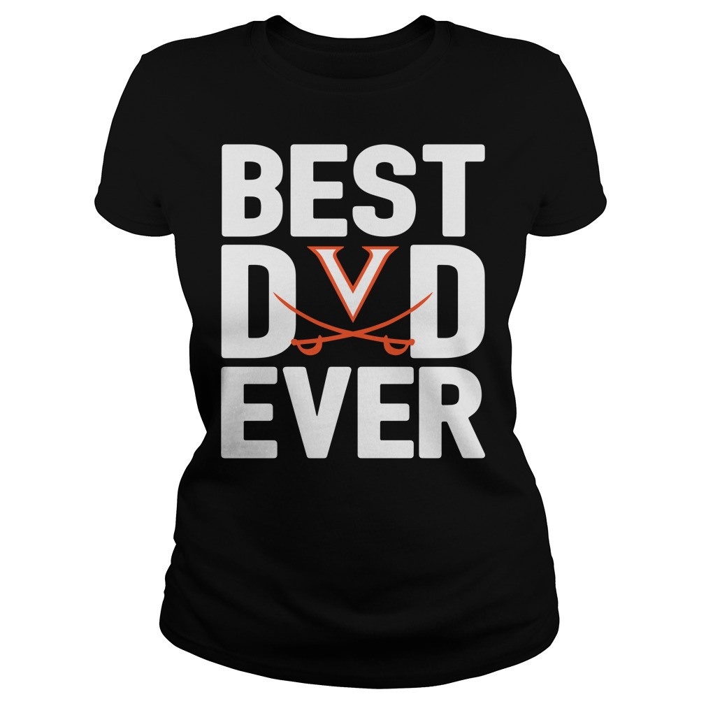 Virginia Cavaliers Best Dad Ever Ladies Tee