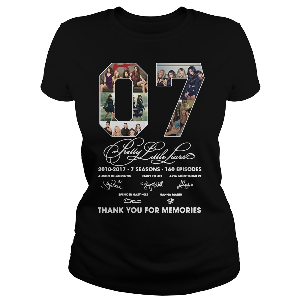 07 Pretty Little Liars Thank You For Memories Ladies Tee