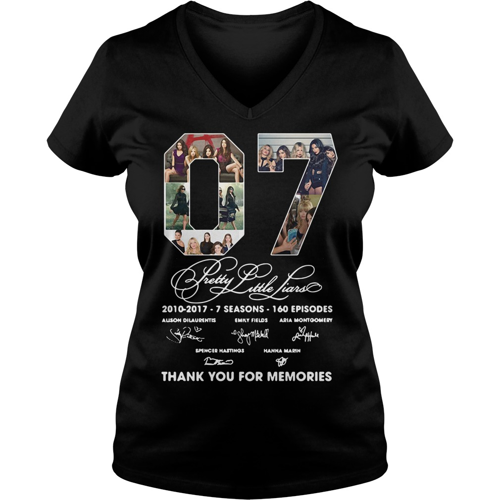 07 Pretty Little Liars Thank You For Memories V-neck T-shirt