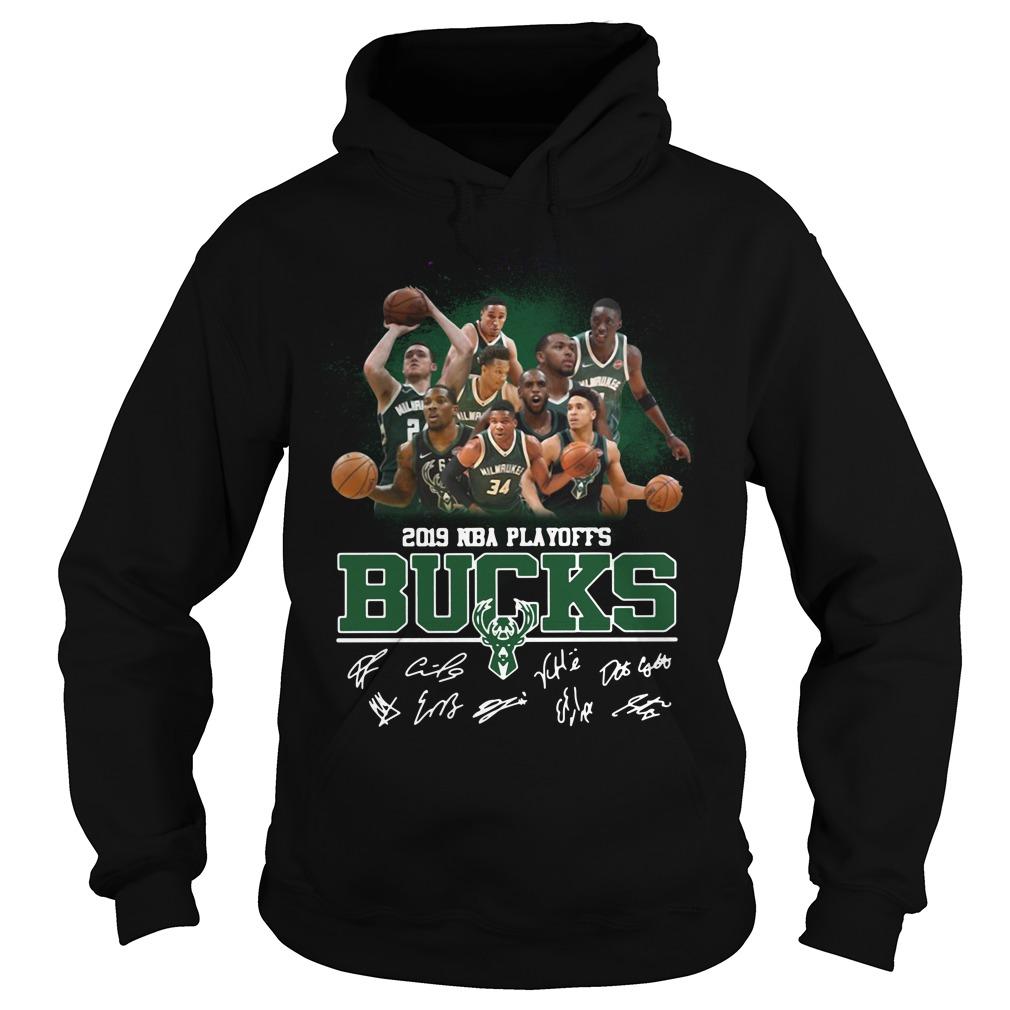 2019 Nba Playoffs Milwaukee Bucks Signature Hoodie
