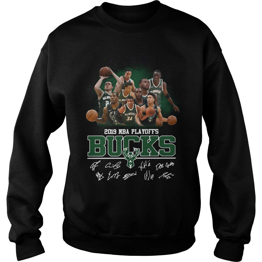 2019 Nba Playoffs Milwaukee Bucks Signature Sweater