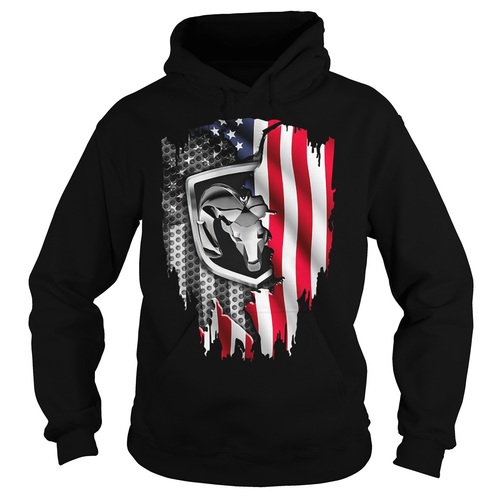 Independence Day 4th Of July Dodge Ram Head America Flag Hoodie