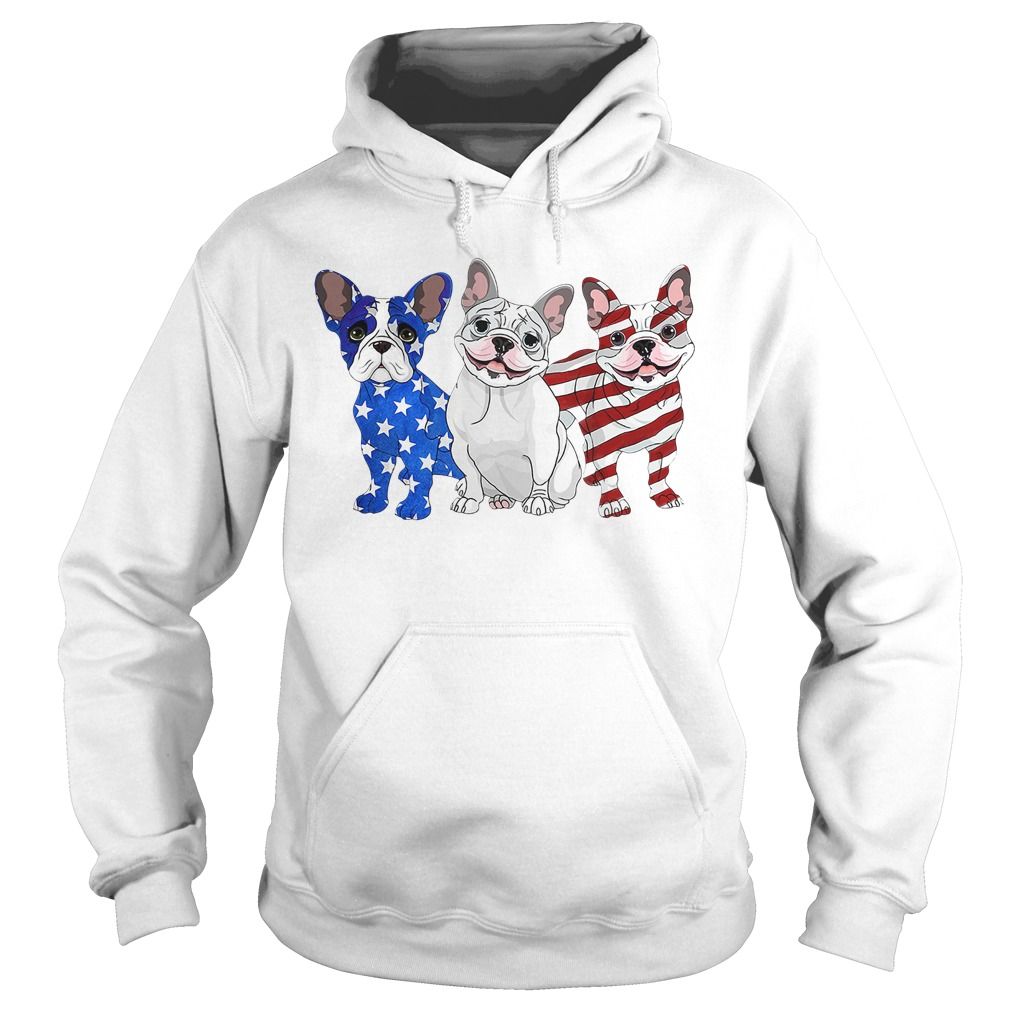 Independence Day 4th Of July French Bulldog Beauty America Flag Hoodie