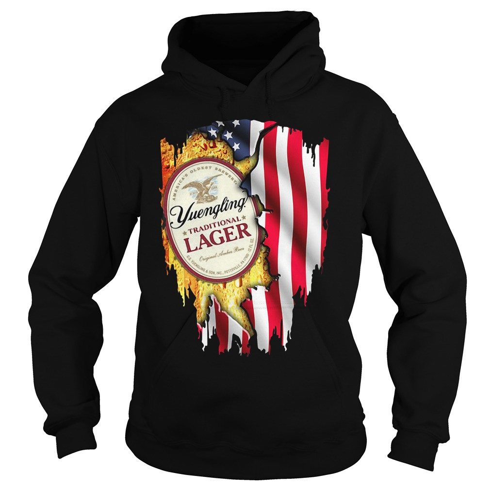 Independence Day 4th Of July Yuengling Traditional Lager America Flag Hoodie