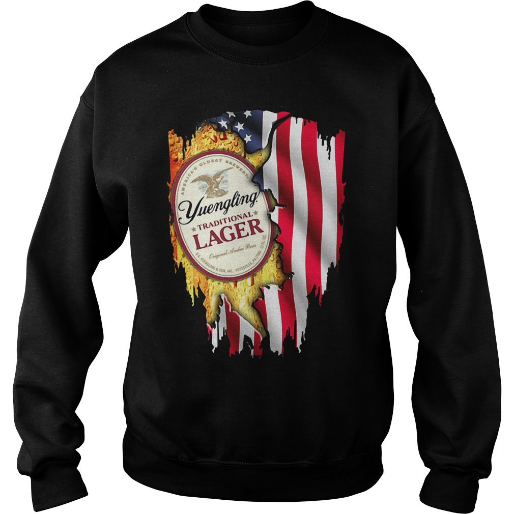 Independence Day 4th Of July Yuengling Traditional Lager America Flag Sweater