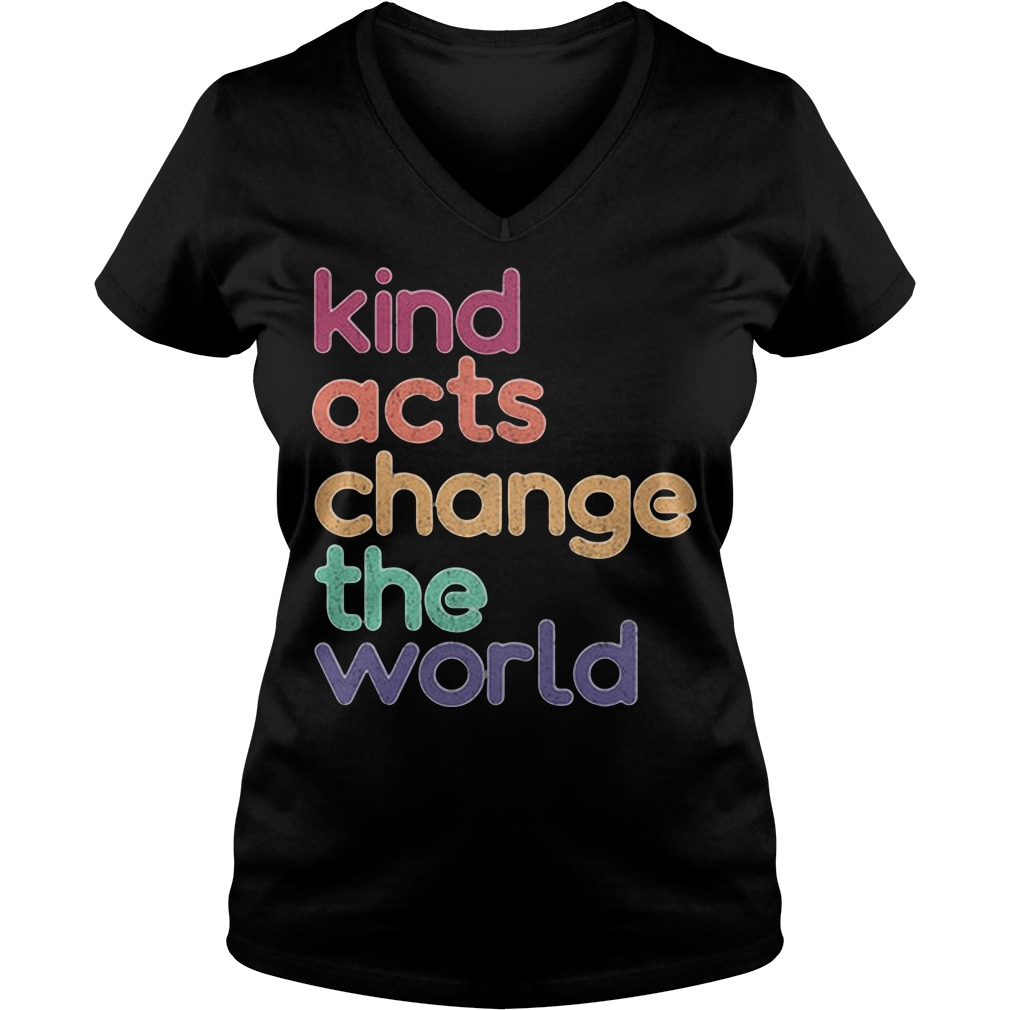 Artis Art Teacher Kind Acts Change The World V-neck T-shirt