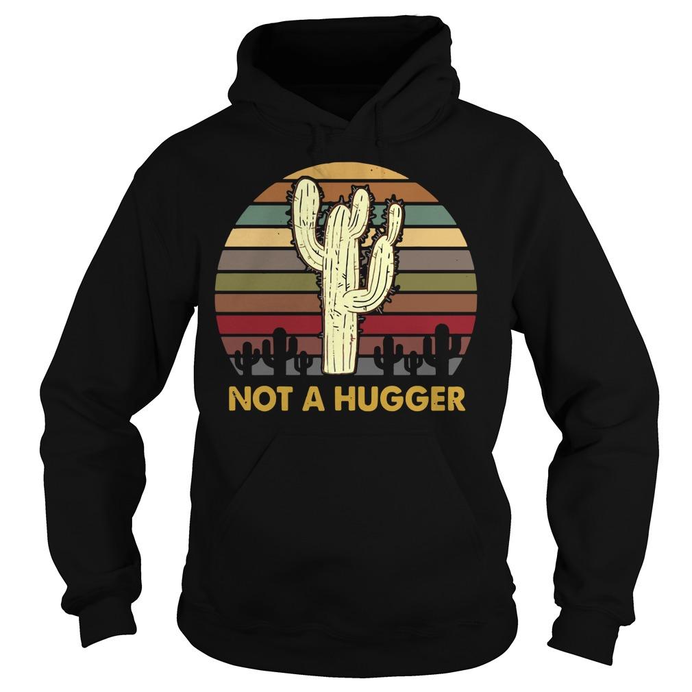 Cactus Not A Hugger Sunset Hoodie