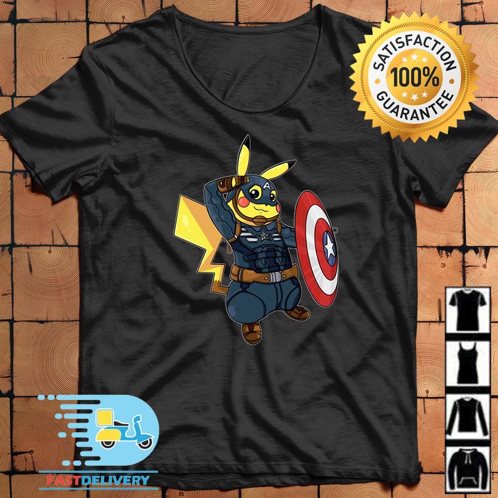 30b41861 Captain America Pikachu Marvel Avenger shirt, hoodie and v-neck t-shirt