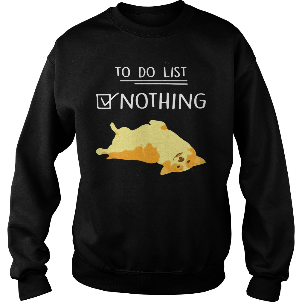 Corgi To Do List Nothing Sweater