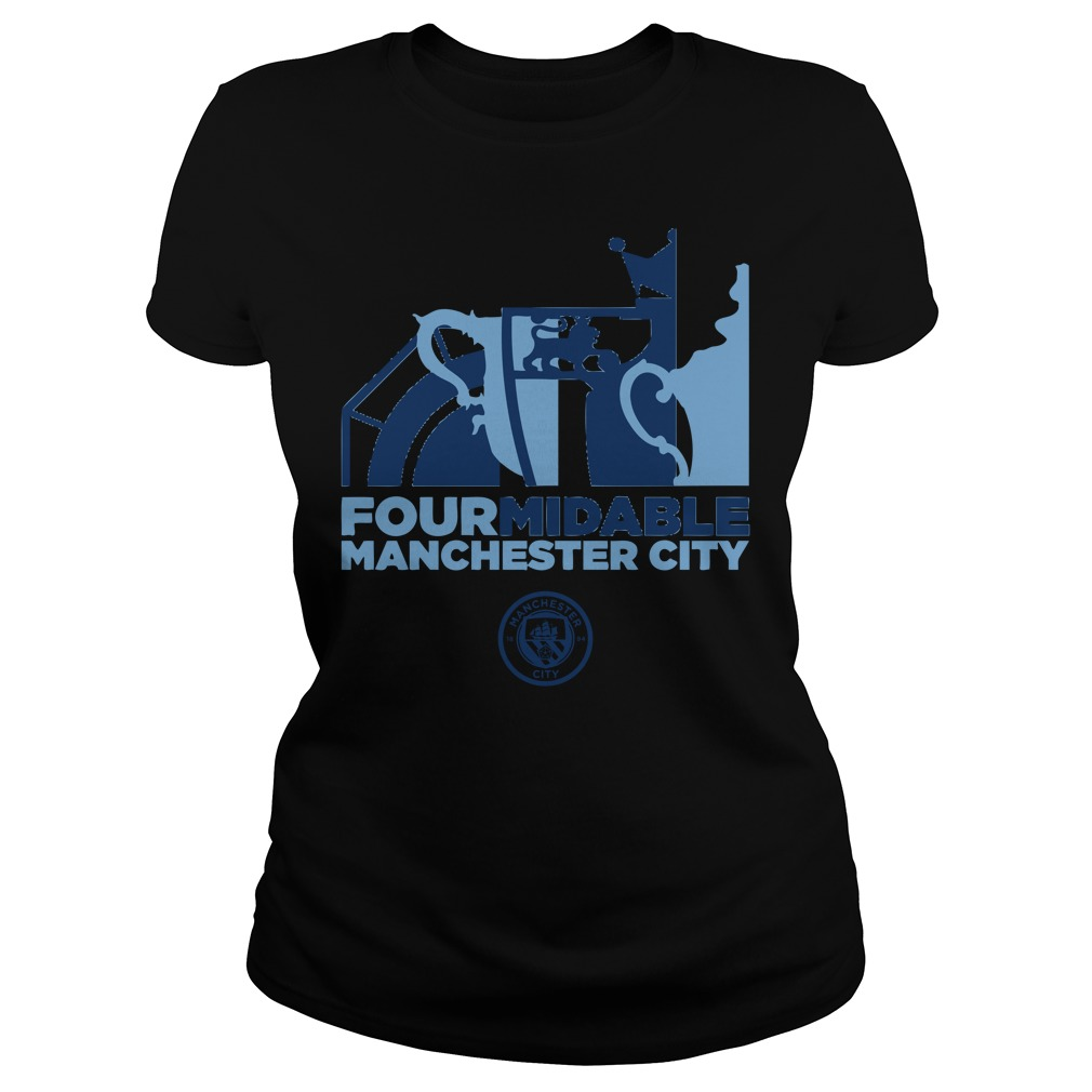 Four Midable Manchester City Ladies Tee