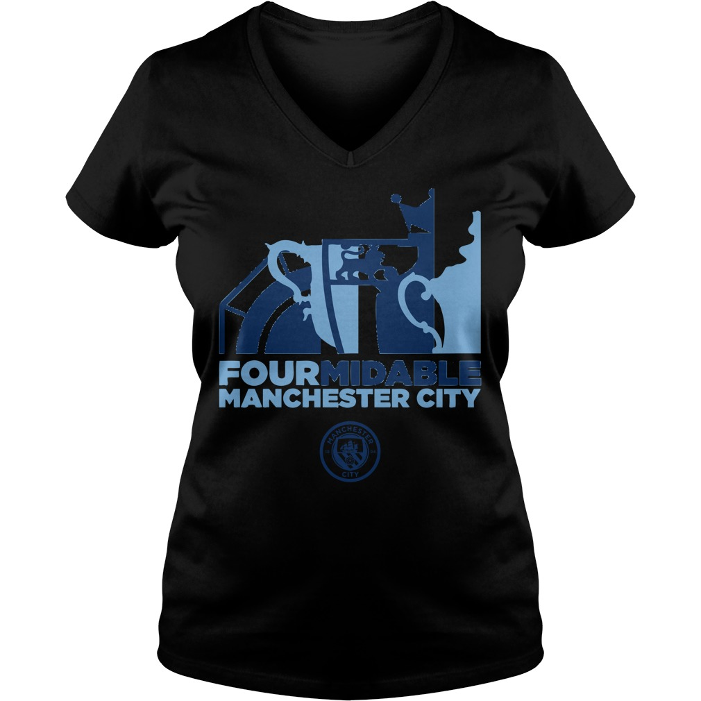 Four Midable Manchester City V-neck T-shirt