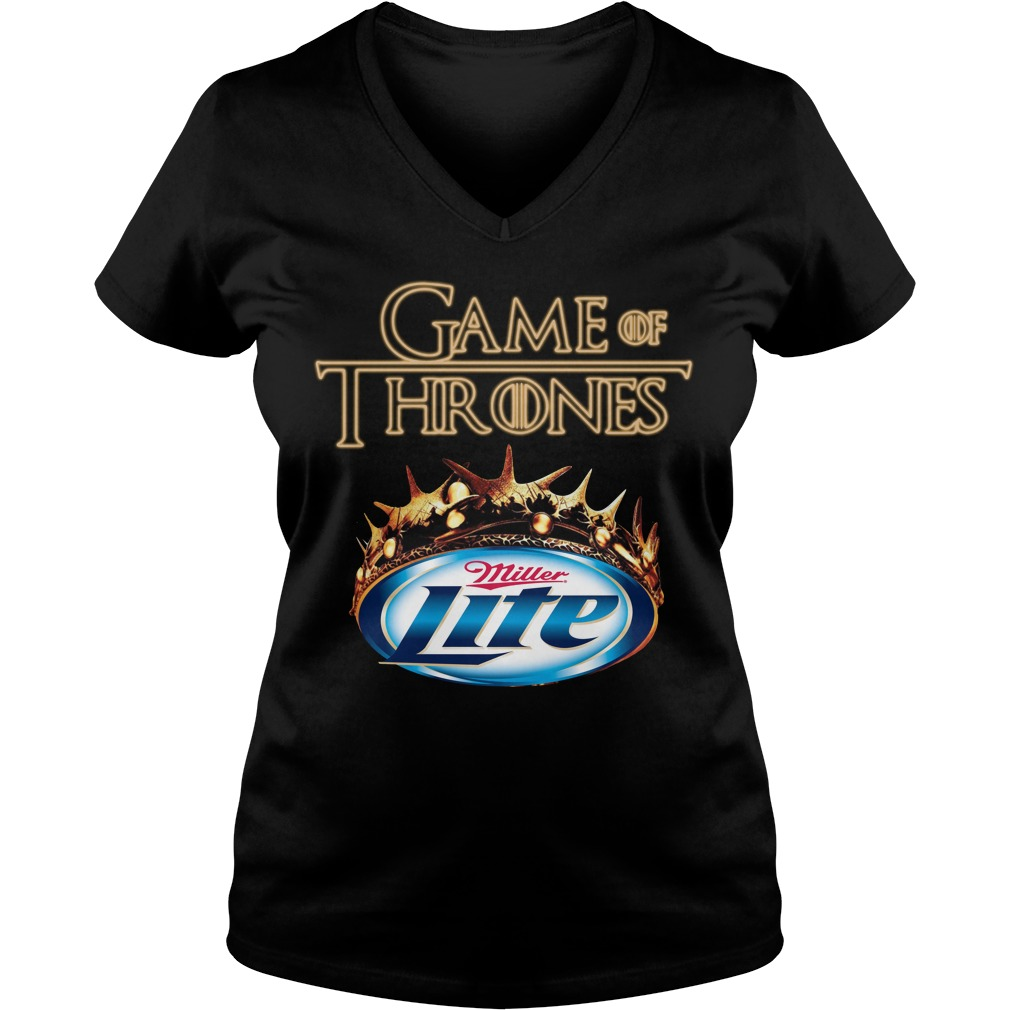 Game Of Thrones Miller Lite Mashup V-neck T-shirt
