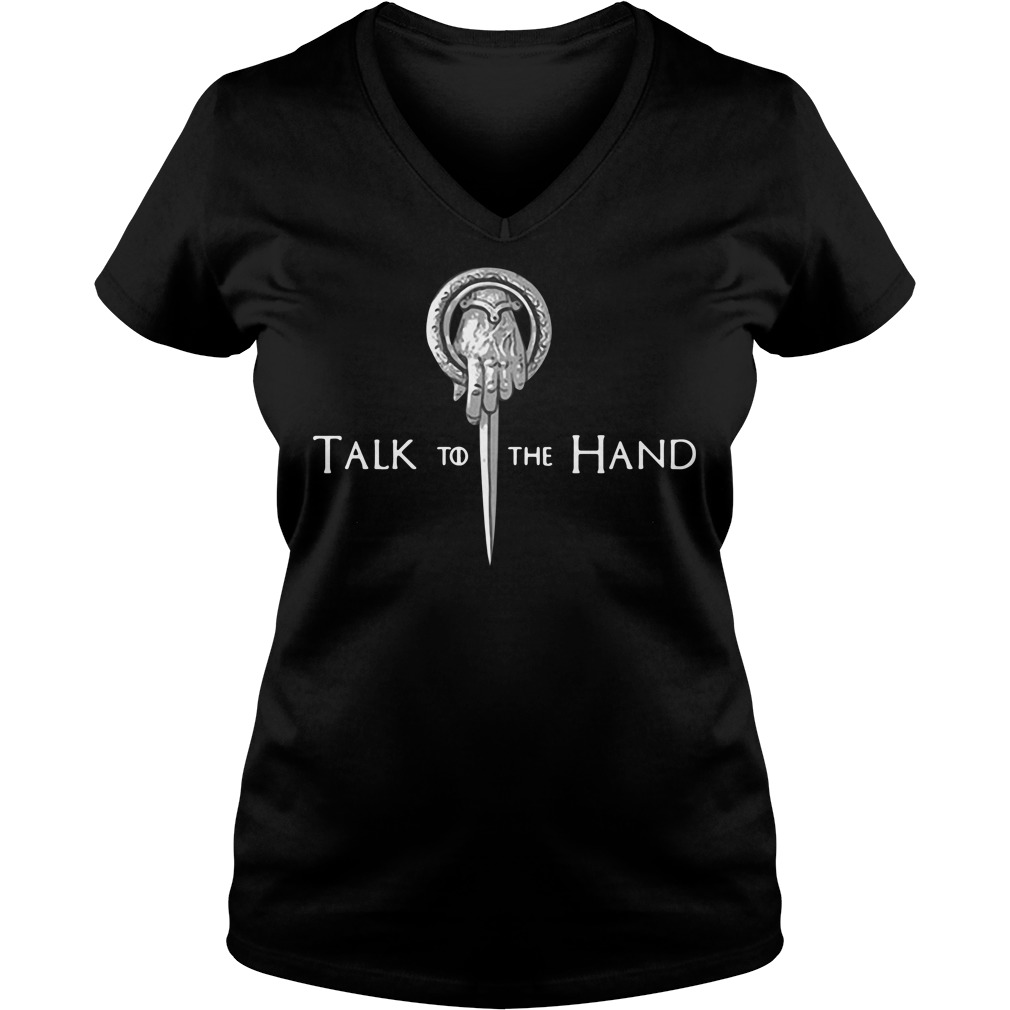 Game Of Thrones Tyrion Lannister Talk To The Hand V-neck T-shirt