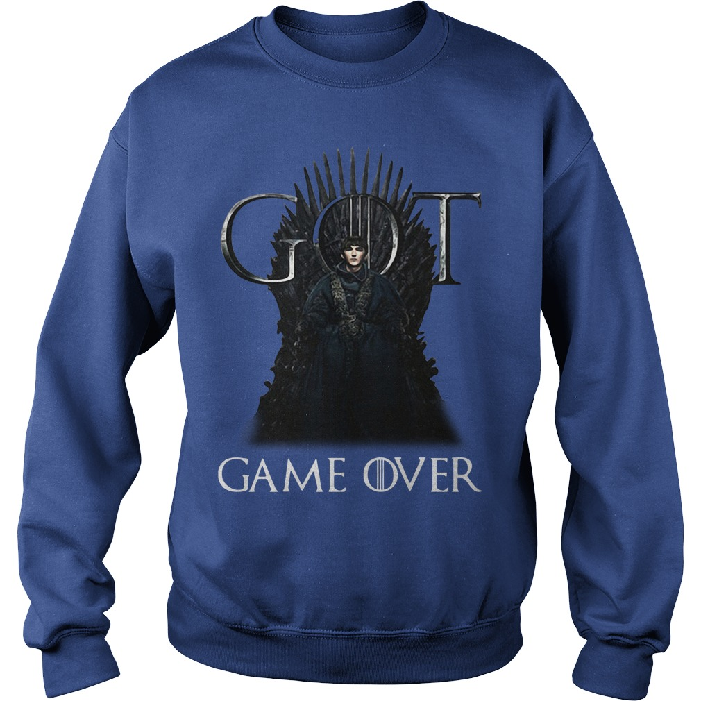 Game Of Thrones Bran Stark King Of Westeros Game Over Sweater