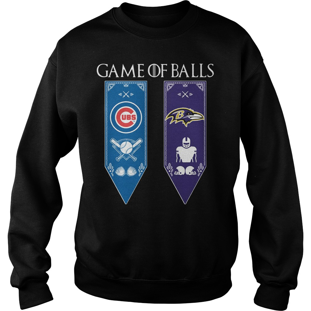 Game Of Thrones Game Of Balls Chicago Cubs And Baltimore Ravens Sweater