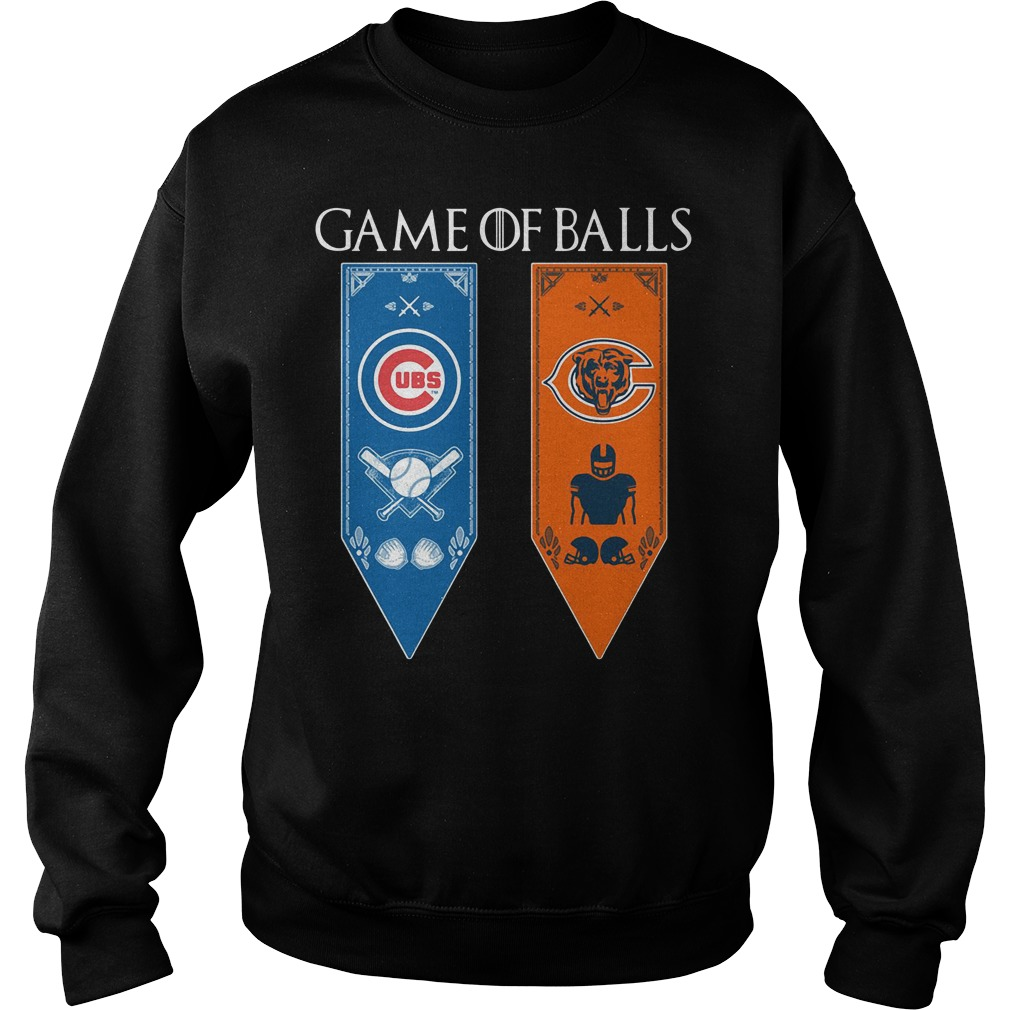 Game Of Thrones Game Of Balls Chicago Cubs And Chicago Bears Sweater