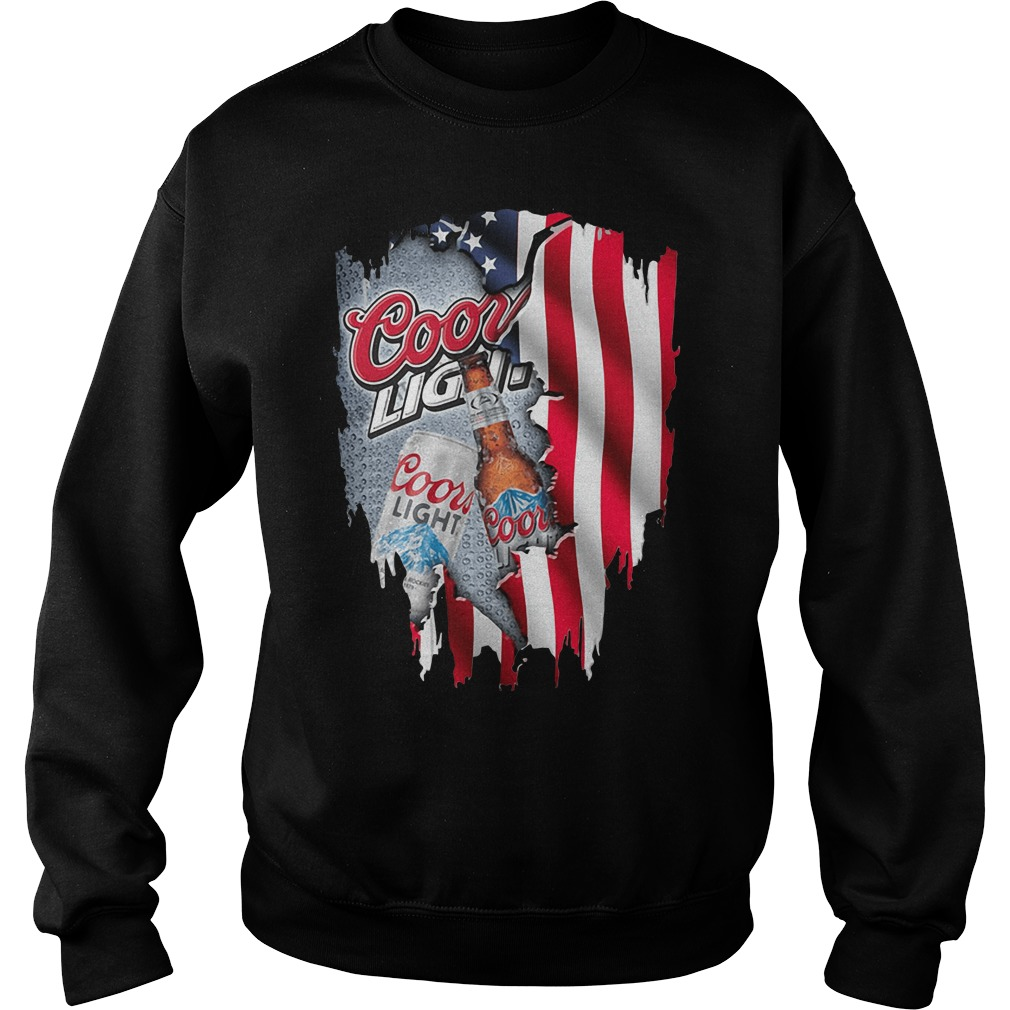 Independence Day 4th Of July Coors Light America Flag Shirt