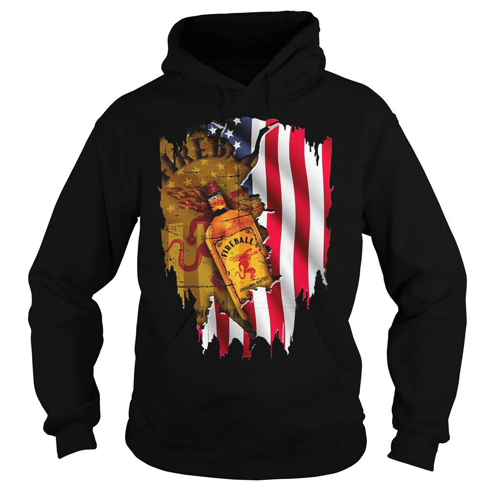 Independence Day 4th Of July Fireball America Flag Shirt