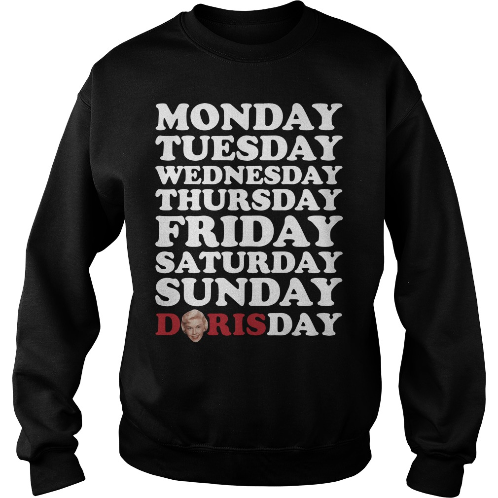 Monday Tuesday Wednesday Thursday Friday Saturday Sunday Doris Day Sweater