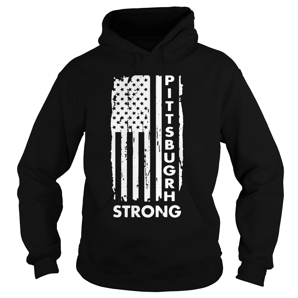 Pittsburgh Steelers America Flag Strong Pray Support Hoodie
