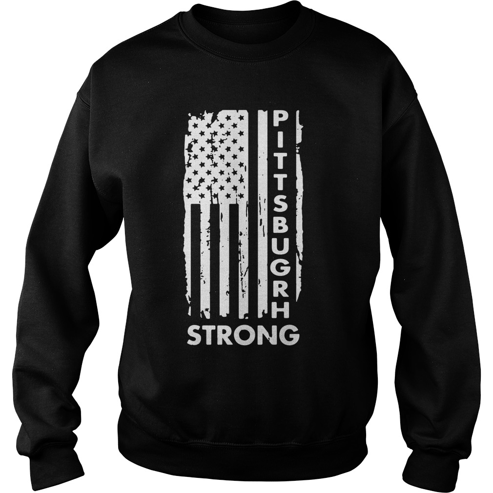 Pittsburgh Steelers America Flag Strong Pray Support Sweater