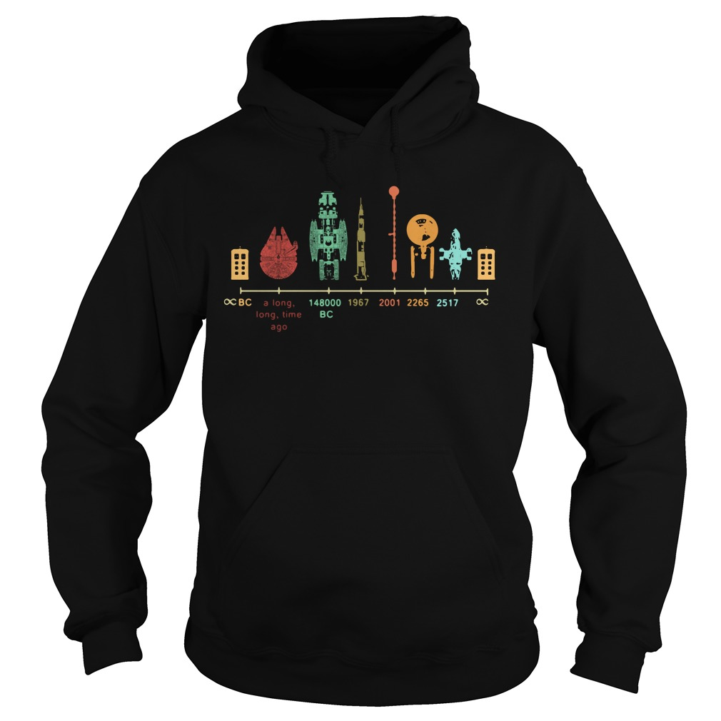 Spaceship Galaxy Fire Timeline 20 A Long Long Time Ago 148000 Bc Hoodie