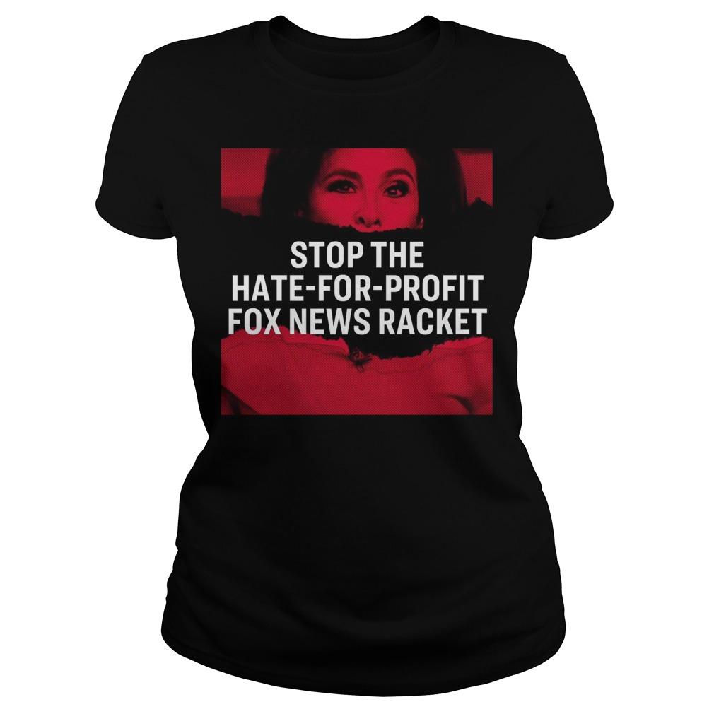 Tucker Carlson Elizabeth Warren Stop The Hate For Profit Fox News Racket Ladies tee