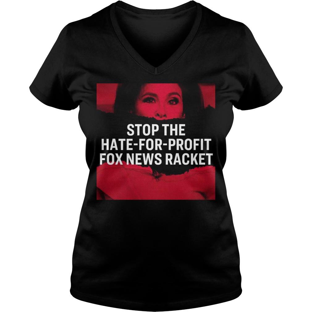 Tucker Carlson Elizabeth Warren Stop The Hate For Profit Fox News Racket V-neck T-shirt