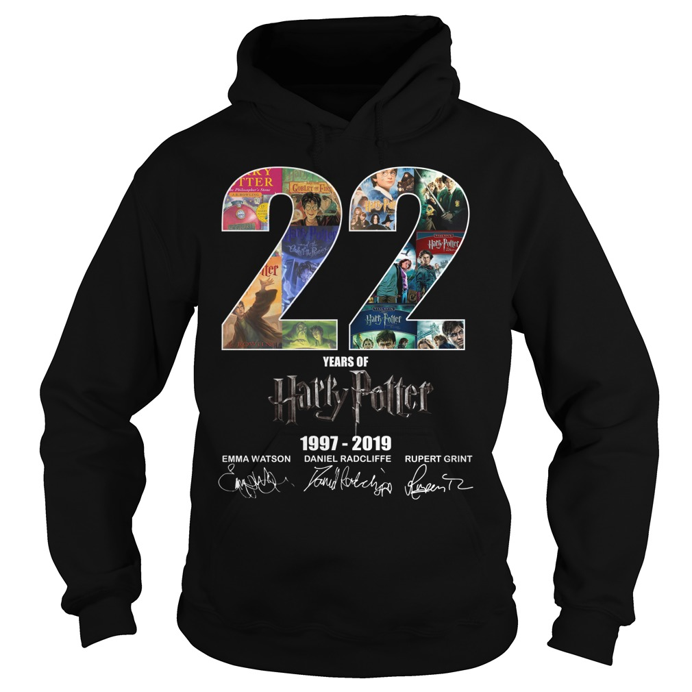 22 Years Of Harry Potter 1997 2019 Signature Hoodie