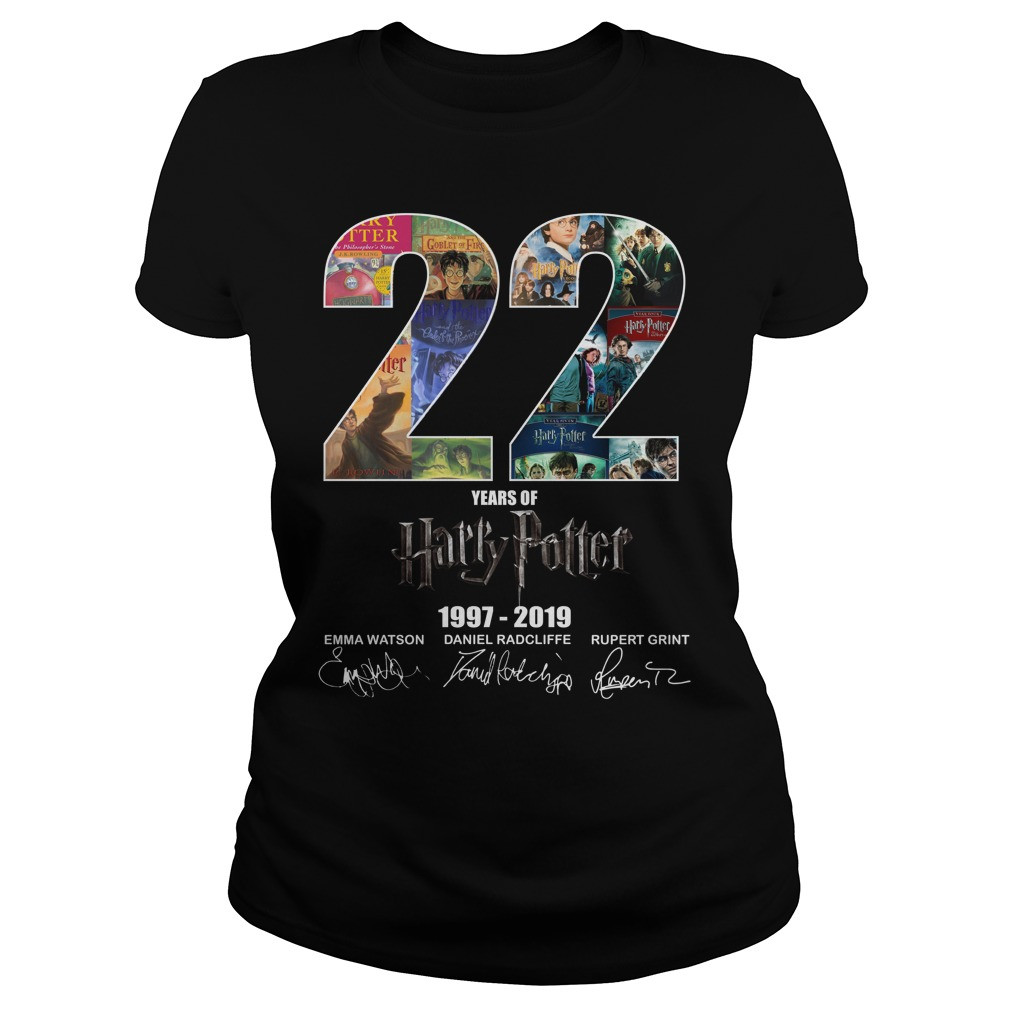 22 Years Of Harry Potter 1997 2019 Signature Ladies Tee