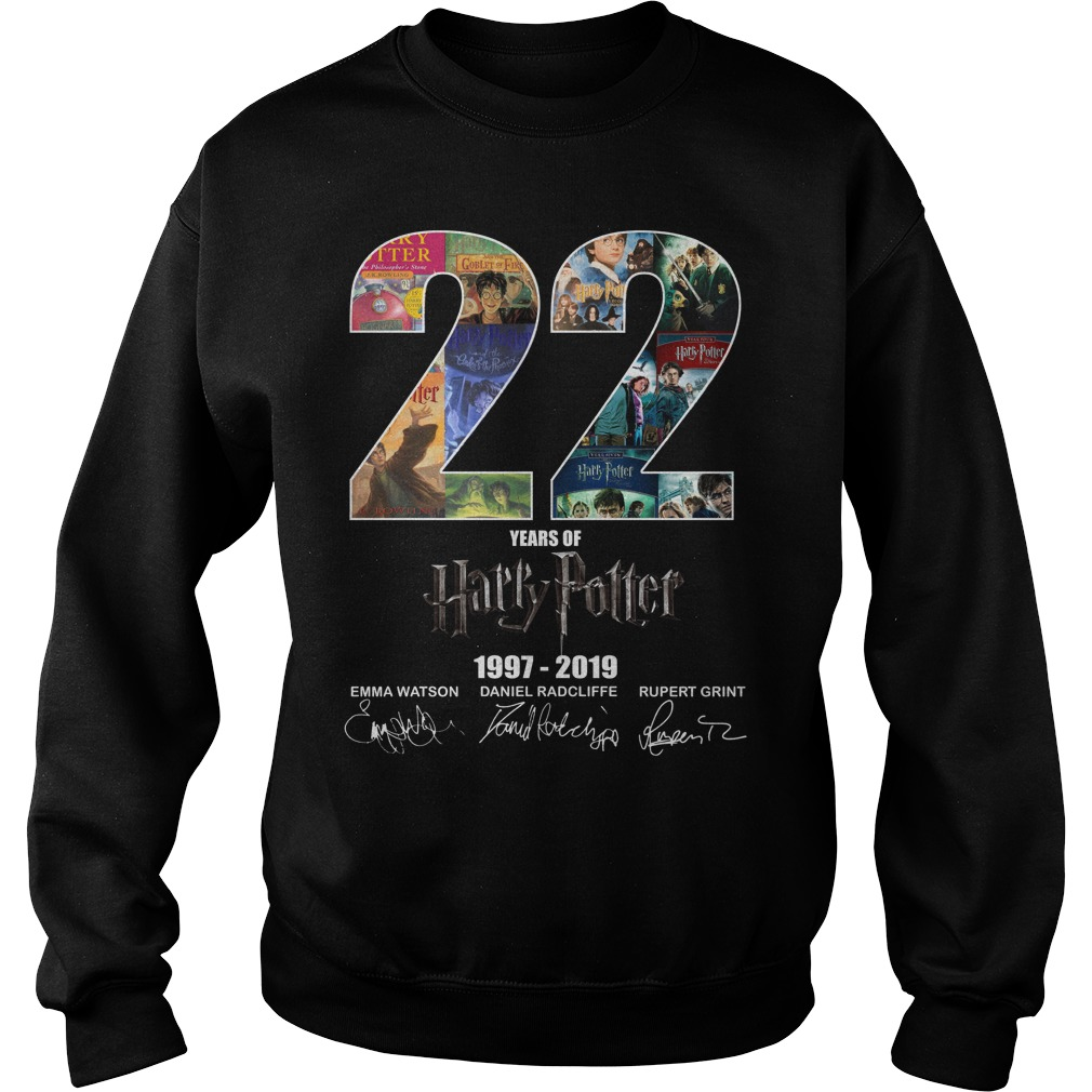 22 Years Of Harry Potter 1997 2019 Signature Sweater