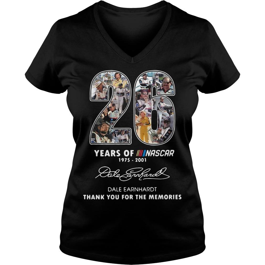26 Years Of Nascar 1975 2001 Dale Earnhardt V-neck T-shirt