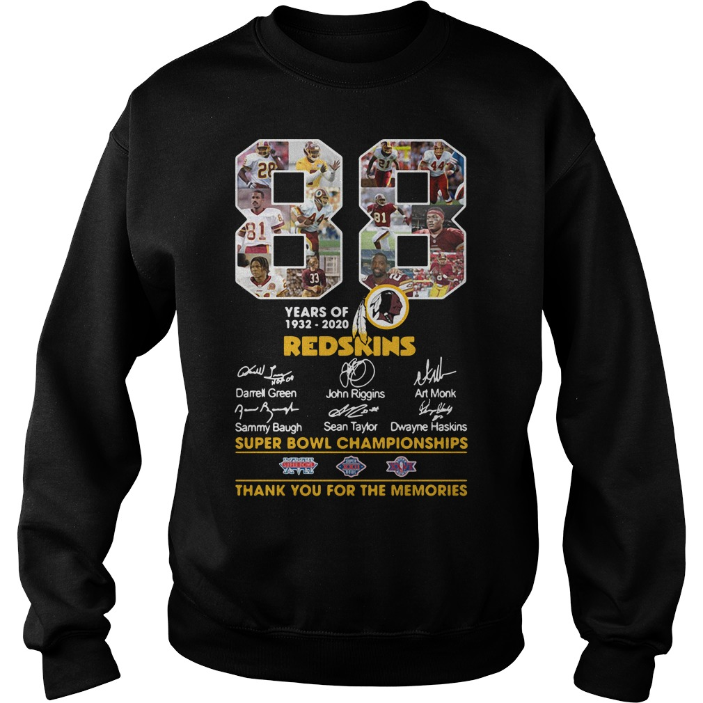 88 Years Of 1932 2020 Washington Redskins Signature Sweater