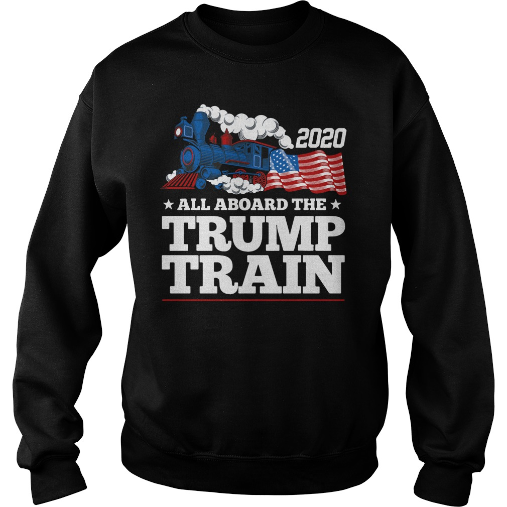 All Aboard The Trump Train America Flag Sweater
