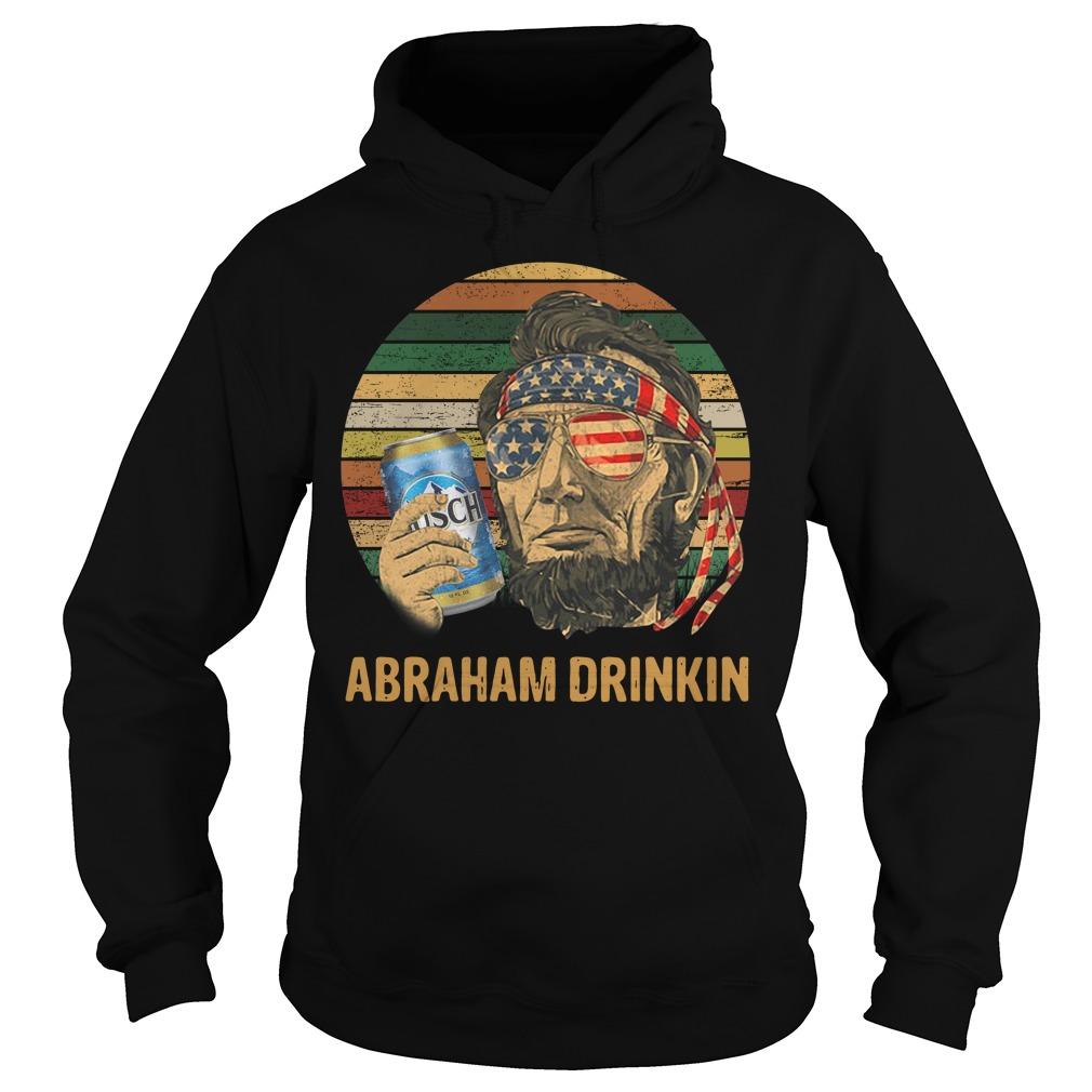 Abraham Lincoln Drankin Busch Light Sunset Hoodie