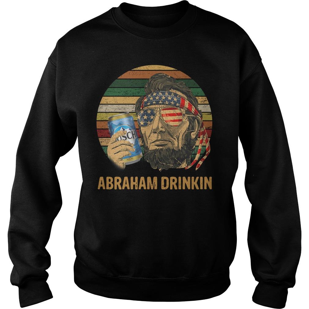 Abraham Lincoln Drankin Busch Light Sunset Sweater